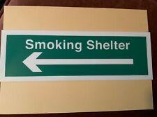 10 x smoking shelter sign for pubs restaurants public building ect hard plastic