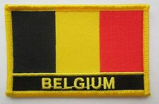 BELGIUM Embroidered country flag Jacket  3.5 X 2.25 flag patch
