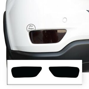 Fits 2014-2021 Jeep Grand Cherokee Rear Reflector Light Overlay Tint Cover Smoke