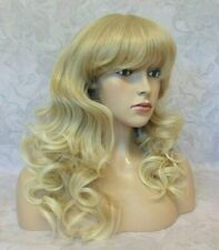 Long Wavy Light Golden Blonde Heat Ok Full Synthetic Wig - 3185