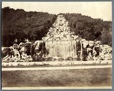 Italie, Cascata di Caserta Vintage albumen print.  Tirage albuminé  18x24