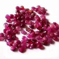 Translucent Round Loose Rubies without Star