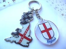 NEW KEY RING ENGLAND FOOTBALL METAL CHARM  STRONG  CLIP CAR KEY GIFT BAG PARTY