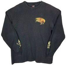 Metallica Birth School Vintage T-Shirt Black Long Sleeve Flaming Skull USA XL