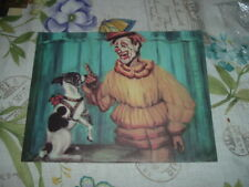 """1961 Color Print Clown """"BUZZY POTTS WITH DOG DAISY"""" The Greatest Show on Earth"""