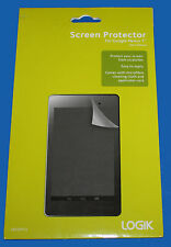 GENUINE LOGIK  Screen Protector  WITH Cleaning Cloth & Card for GOOGLE NEXUS 7