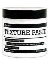 Ranger Texture Paste 3.9 oz Jar Use w/ Stencils & Palette Knife create 3D effect