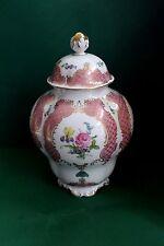 Lindner Vase, Deckelvase, Deckeldose, Princess Rose, Höhe 33 cm