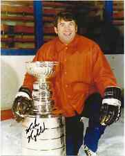 """Mike Nykoluk With Stanley Cup Autographed 8"""" x 10"""" Photo w/COA Certification."""