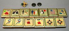 13 BSA Lot Boy Scouts America COLLECTION merit badge BELT LOOP SLIDES vintage