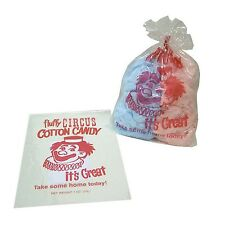 "25 -12x18"" Cotton Candy Bags w/Ties,  Fun Print, Gold Medal Cotton Candy Bags"