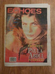 ECHOES MAGAZINE 1 DECEMBER 1990 PAULA ABDUL CANDYMAN REBEL MC INCOGNITO UNIQUE 3