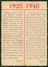 Propaganda Fascismo 1935 1940 ABRASA FG cartolina XF7376
