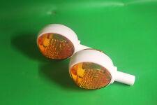 Set Blinker Blinkleuchte passend Simson Schwalbe KR51 Lenkerblinker orange weiss