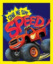 "1 Nickelodeon Blaze ""Give Me Speed"" Fabric  Panel"