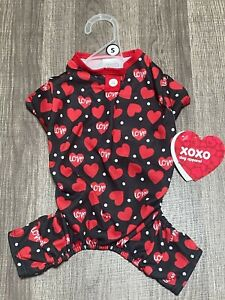 Simply Wag Dog St Valentine Pajamas Of Hearts SMALL