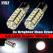10X 1157 6000K Xenon White SMD LED Front Turn Signal Light Bulbs Lamp