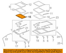 TOYOTA OEM 15-16 Sienna Sunroof Sun Roof-Sunshade Shade Cover 6330608040B1