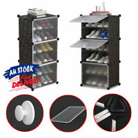 6 Tier Storage DIY Portable Stackable Shoe Cabinet Rack Organiser Stand ACB#