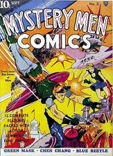Mystery Men Comics #2 Photocopy Comic Book, Blue Beetle, Green Mask