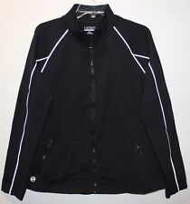 Ralph Lauren Womens Black Full-Zip Athletic Track Workout Jacket NWT $135 XXL