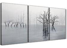 3 Set Black White Grey Tree Landscape Painting Dining Room Canvas 3416 - 126cm