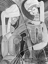 PAINTINGS PORTRAIT AFRICAN WOMEN CHILD SURREAL ART POSTER PRINT LV3297