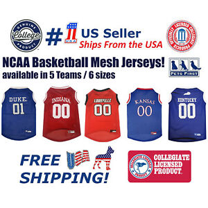 NCAA Basketball Mesh Jersey - Licensed, Brand NEW, 5 Collegiate Teams in 6 sizes