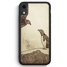 Vintage Pinguin & Vogel iPhone XR SILIKON Hülle Cover Tiere Schön Handyhülle ...