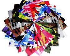 10 10X10 Quilting Layer Cake Squares Kickin Camo Brights- 10 Different-1 Each