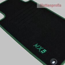 MP Velours Logo Fußmatten für Mazda MX-5 MX5 NA ab Bj.1989 - 1998  grün
