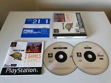 HOGS OF WAR & WORMS Double. PS1 Games. Complete. (PlayStation One, PS3. PAL)