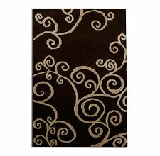 3' x 5' Authentic Tufenkian Wool & silk Tibetan Hand knotted Area Rug 3x5 Black