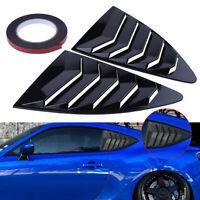 2x Rear Vent Side Quarter Window Louver Cover For Toyota 86 Scion FRS Subaru BRZ