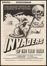 HORROR SAFARI__INVADERS OF THE LOST GOLD__Orig 1981 Trade AD_poster_LAURA GEMSER