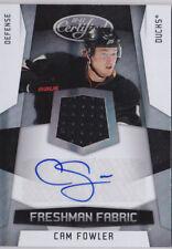 10-11 Certified Cam Fowler /499 Auto Jersey Rookie Anaheim Ducks 2010