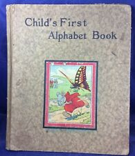 Child's First Alphabet Book Charles E Graham & Co Newark New York Antique 1920