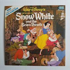 Walt Disney's - Snow White Story and Songs (1969) Book & Vinyl LP Record LF273
