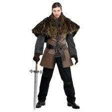 Adult Medieval  Furry Cape Mens Viking Warrior Cloak Fancy Dress Accessory
