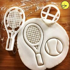 Tennis Racket and Ball cookie cutter | wimbledon grand slam roger federer games