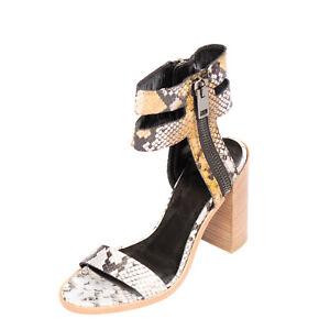RRP €185 DIESEL ZIP-ROUND DRESSY D-ZIPPHER HS Leather Sandals EU 39 UK 6 US 8.5