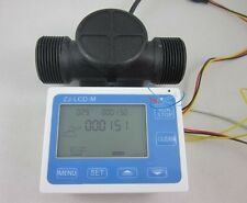 "G1-1/2"" 1.25 Flow Water Sensor Meter+LCD Display Quantitative Control 1-120L/min"