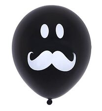 20XLatex Smile Mustache Black balloon Decoration Birthday wedding Party Supplies