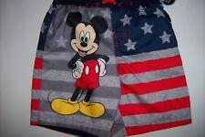 Mickey Mouse Swimsuit Swimwear Trunks Boys 4Toddler Stars Stripes UPF 50+ NWT