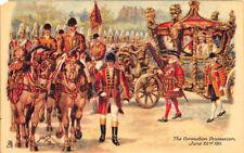 Raphael Tuck The Coronation Procession 1911 Signed Harry Payne Postcard