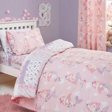 Bedlam Mermaid Print Reversible Duvet Cover Set, Pink