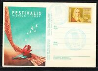 Soviet Russia Lithuania 1957 local cover Youth Festival.Tulips.Limited Issue