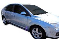 Ford Focus mk2 2004 - 2010 4 door saloon wind deflectors 4pc TINTED HEKO