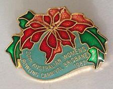Brisbane 1987 Womens Australian Bowling Carnival Club Badge Pin (L36)
