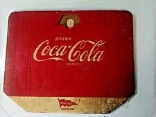 "Vintage Original COCA-COLA CARDBOARD Stadium Seat Back Saver 15"" x 12"""